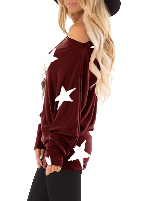 Flying Rabbit långärmad t-shirt för kvinnor, sweatshirt, pullover, randig, lapptäcke, rund hals, blus, färgblock, sweatshirt Vin Sx