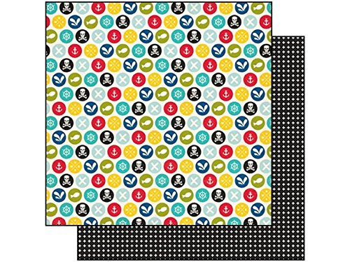 Echo Park 12 x 12 in. Paper Pirates Life Scallywags (25 sheets) (Scallywag Pirate)