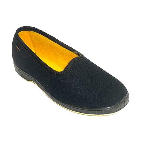 Zapatillas Mujer de Persona Mayor Muy cómodas Doctor Cutillas en Negro: Amazon.es: Zapatos y complementos