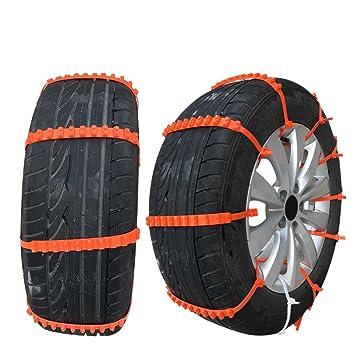 KKmoon 10 Cadenas Nieve para Coche Neumáticos Antideslizante Ajuste Universal: Amazon.es: Coche y moto
