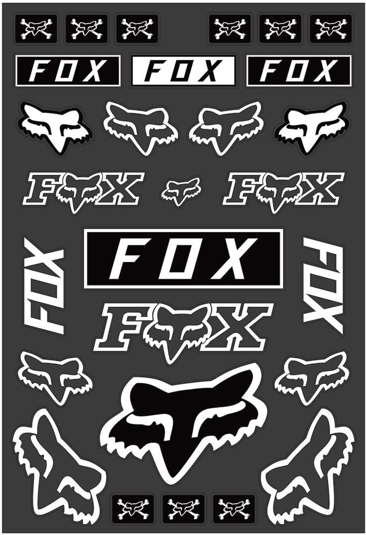 Black//White//Orange Fox Racing Track Pack Stickers
