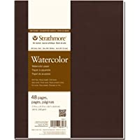 "Strathmore 483-7 Softcover Watercolor Art Journal, 7.75"" x 9.75"", White, 24 Sheets"
