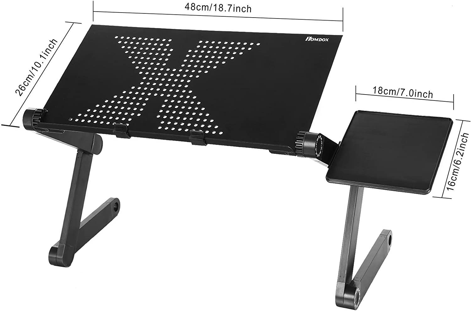 Lazinem 360 Degree Adjustable Foldable Laptop Notebook Desk Table Stand with Mouse Board Notebook Computer Stands