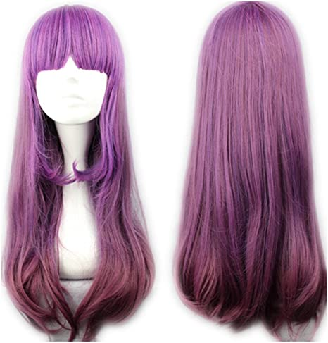 Peluca Cosplaza cosplay gótica de Lolita para disfraz, largo de 60 cm, color lila: Amazon.es: Belleza