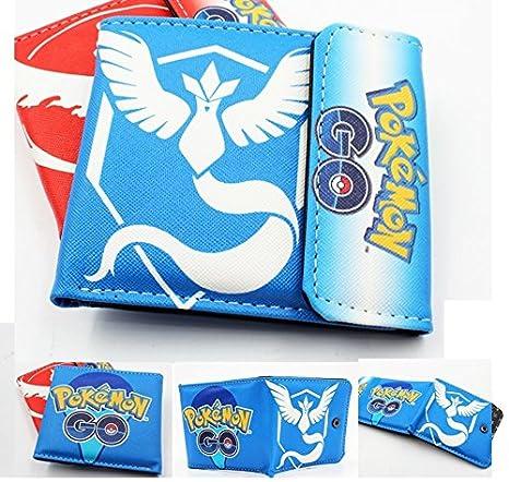 Pokemon Go equipo Mystic azul plegable Cartera: Amazon.es: Oficina y papelería
