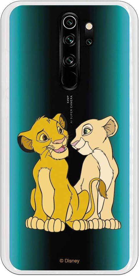 Funda para Xiaomi Redmi Note 8 Pro Oficial de El Rey León Simba y Nala Silueta para Proteger tu móvil. Carcasa para Xiaomi de Silicona Flexible con Licencia Oficial de Disney.