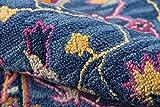 Momeni Ibiza Wool Area Rug, 5' X 8', Blue