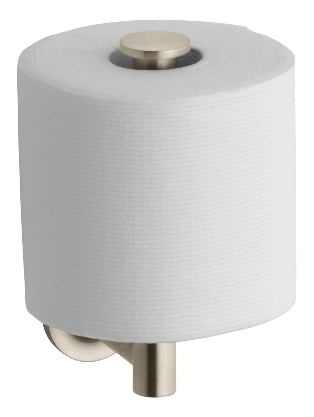 Kohler K-14444-BV Purist Toilet Tissue Holder, Vibrant Brushed Bronze by Kohler