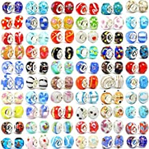 Buckets of Beads Ten Assorted Colored Murano Glass Bead Charms