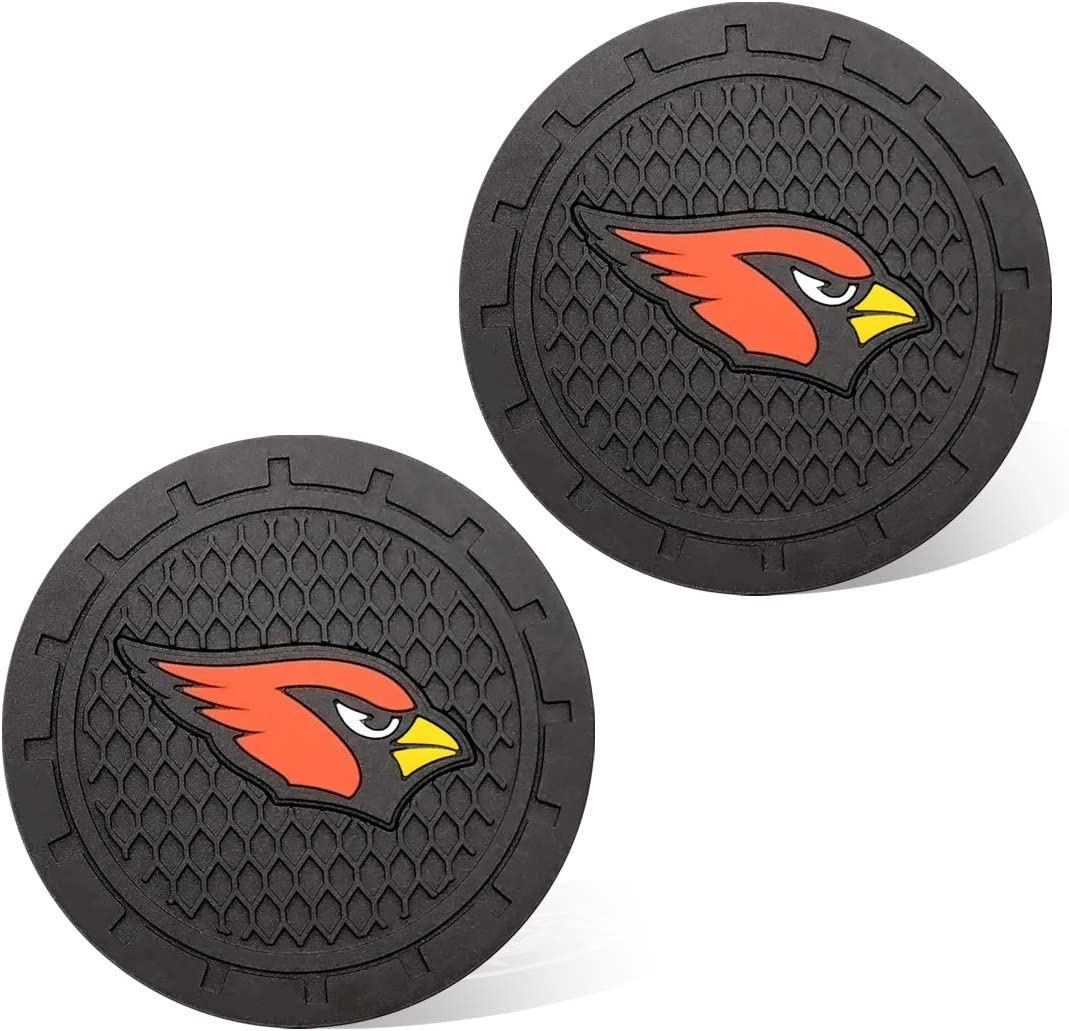 Chicago Bears Wall Stickz wesport 2.75 Inch Diameter Oval Tough Car Logo Vehicle Travel Auto Cup Holder Insert Coaster Can 2 Pcs Pack