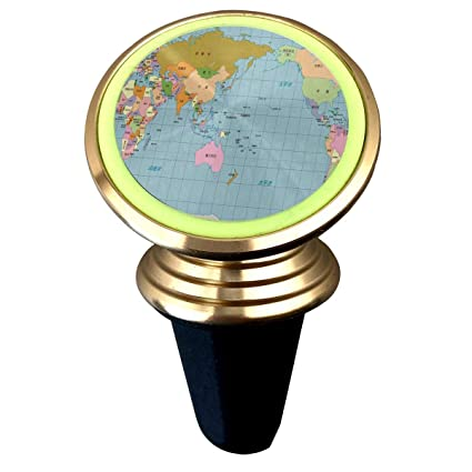 360 Degree World Map.Amazon Com Magnetic Phone Holder A Pacific Centered World Map 360
