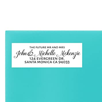amazon com wedding return address label stylish by