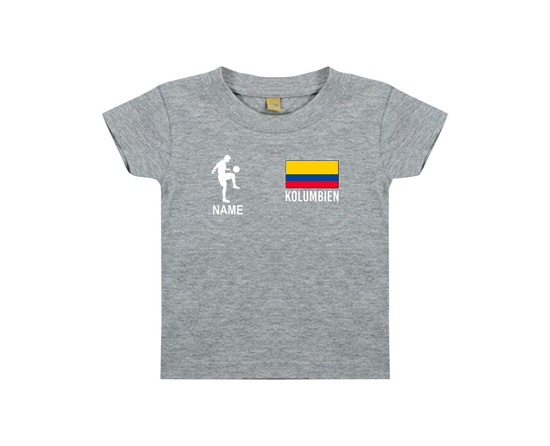 Shirtstown Kids Camiseta Camiseta de Fútbol Colombia con Su Nombre Deseado Estampado: Amazon.es: Ropa y accesorios