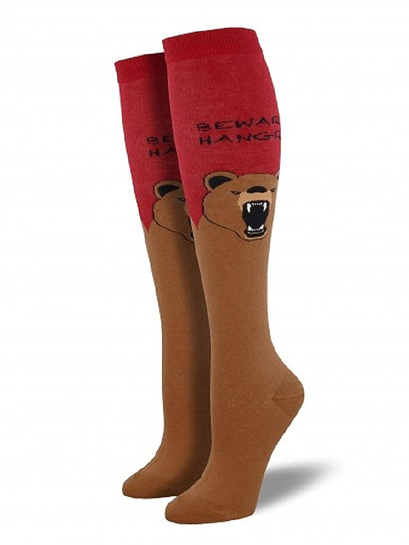 Socksmith Hangry Bear Graphic Knee High Socks WNH726