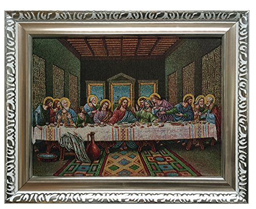 Framed Beautiful Last supper Jacquard Woven Wall Hanging for sale  Delivered anywhere in USA
