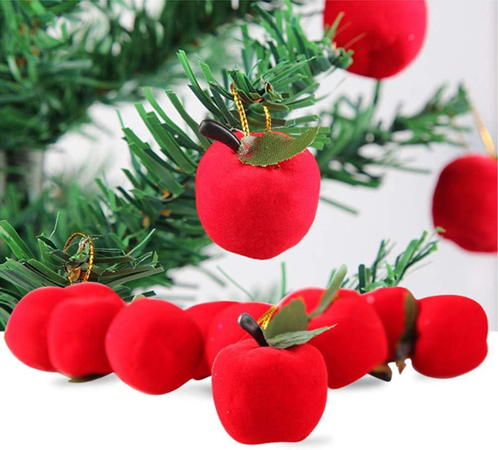 CHoppyWAVE 12Pcs Christmas Apple Hanging Ornaments for Xmas Tree Window Showcase Party Decor - Red
