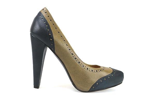 Zapatos mujer DEIMILLE Zapatos de salón marrón gris cuero AM852 (37 EU) CK0q5AHJ