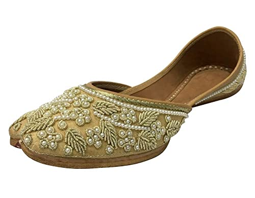 4bbe80233f0a Step n Style Bridal Flats Wedding Shoes Indian Designer Shoes Punjabi Jutti  Mojari Juti  Buy Online at Low Prices in India - Amazon.in