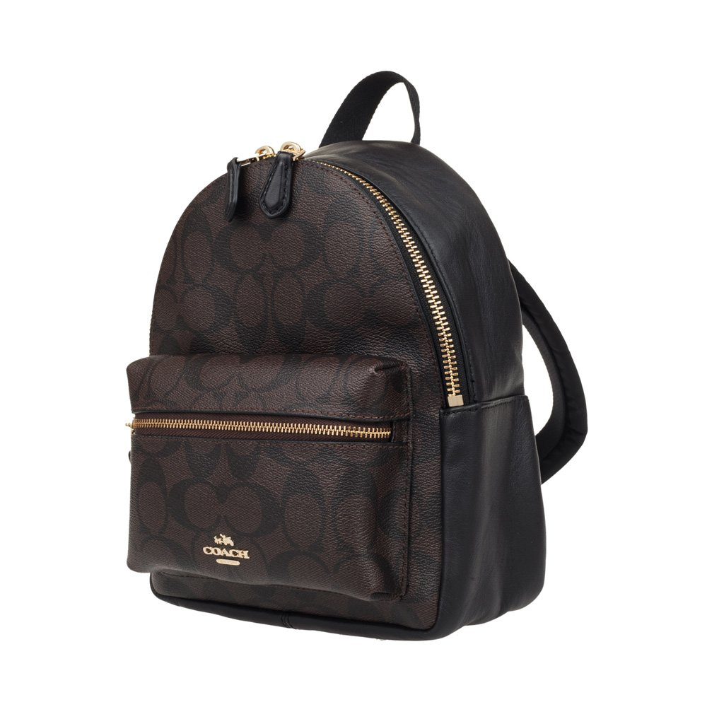 c167485b0 Coach Charlie Pebble Small Leather Backpack F38263 (Black): Amazon.ca:  Luggage & Bags