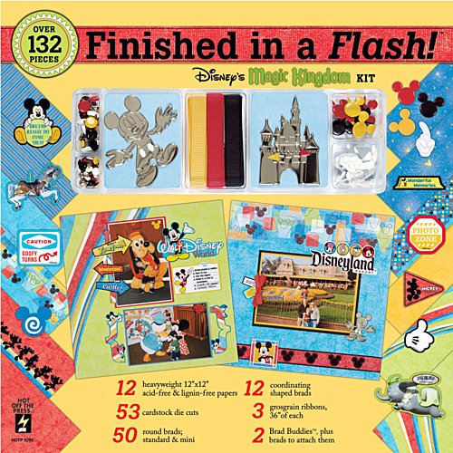 Hot Off The Press Finished in A Flash Page Kit 12''X12''-Disney Magic Kingdom by Hot Off The Press (Image #3)