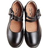 iFANS Girl's Mary Jane School Uniform Flat Shoes Black(Toddler/Little Kid)