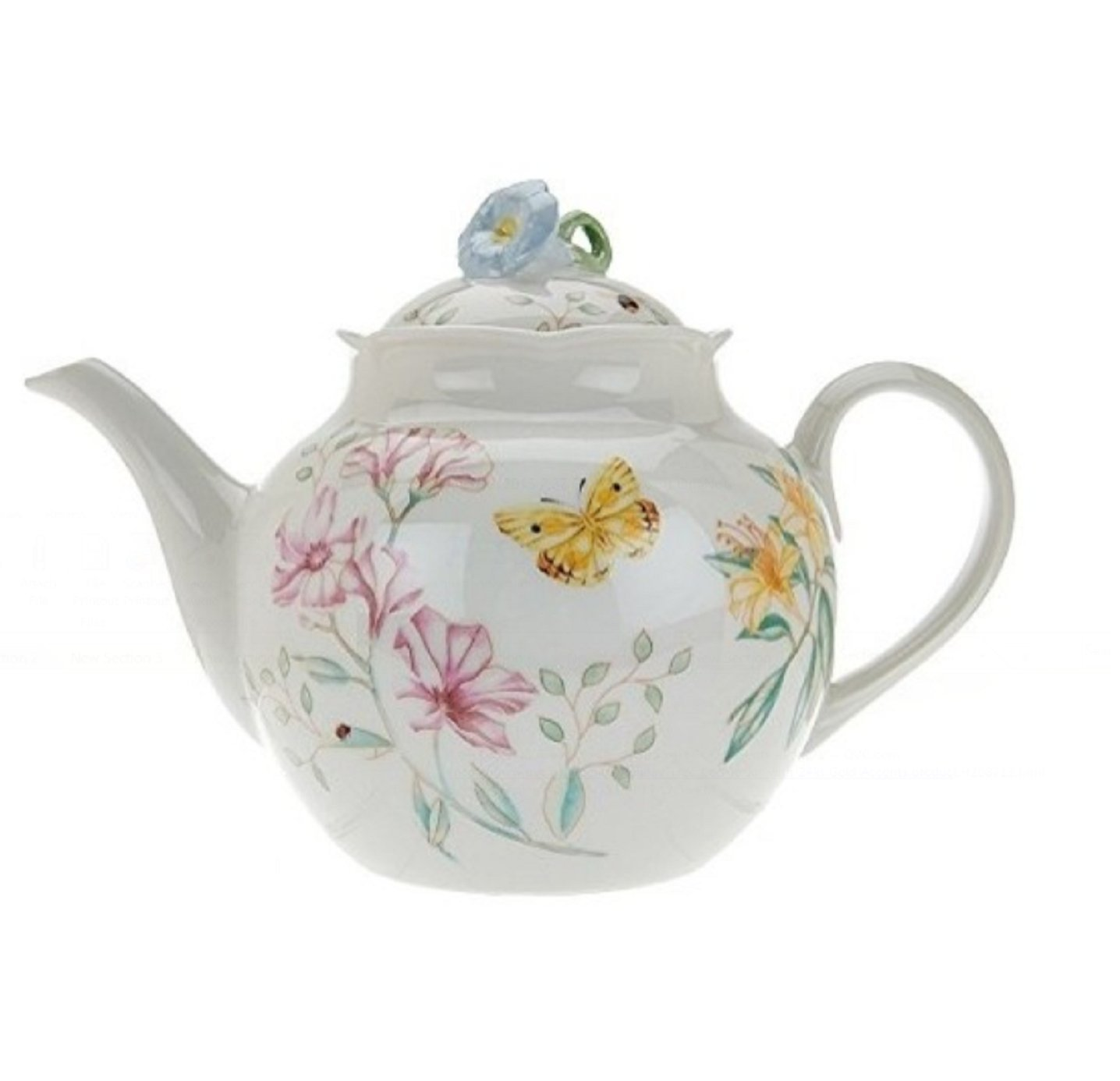 Lenox Butterfly Meadow Limited Edition Teapot with Lid