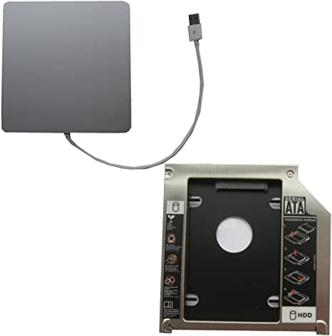 Generic USB Superdrive Enclosure and Second HDD Caddy 2nd HDD Ssd Apple MacBook Pro Md101ll//a Md102ll//a Unibody