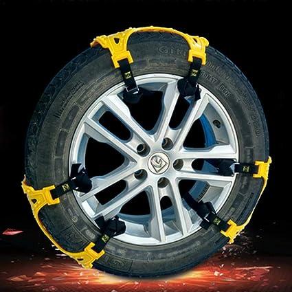 Juego de 6 cadenas de nieve antideslizantes universales de poliuretano termoplástico grueso para neumáticos de coche