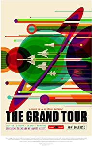 The Grand Tour NASA Space Retro Travel Vintage JPL Planets Exploration Science Fiction SciFi Tourism Astronaut Geeky Nerdy Cool Wall Decor Art Print Poster 24x36