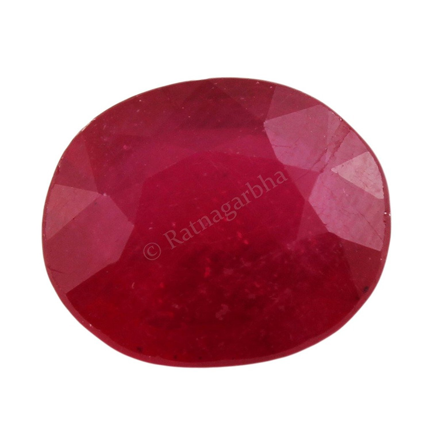 7.50 ratti natural red Ruby for Leo planet, gemstone for astrological use, red color, wholesale price, Prepared exclusively by Ratnagarbha.