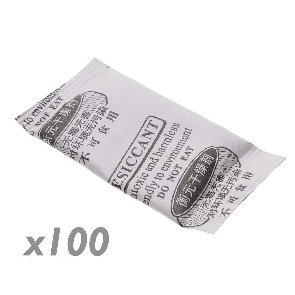 Cablematic Bolsa desecante deshumidificadora de gel s/ílice silica 25x50mm 1g 100 pack