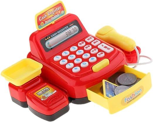 RANRANJJ Caja registradora de Juguete con escáner Juguete de ...