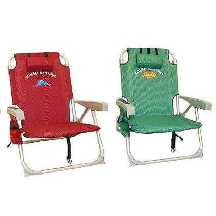Amazon.com: 2 Tommy Bahama Mochila Cooler Sillas de playa (1 ...