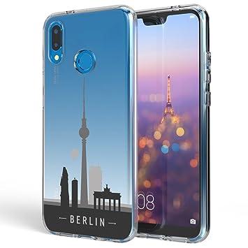 NALIA Funda Carcasa Compatible con Huawei P20 Lite, Motivo Design Movil Protectora Ultra-Fina Silicona Cubierta Goma Gel Estuche Telefono Bumper ...