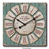 Oversized Square Rustic Decorative Wall Clock For Sale