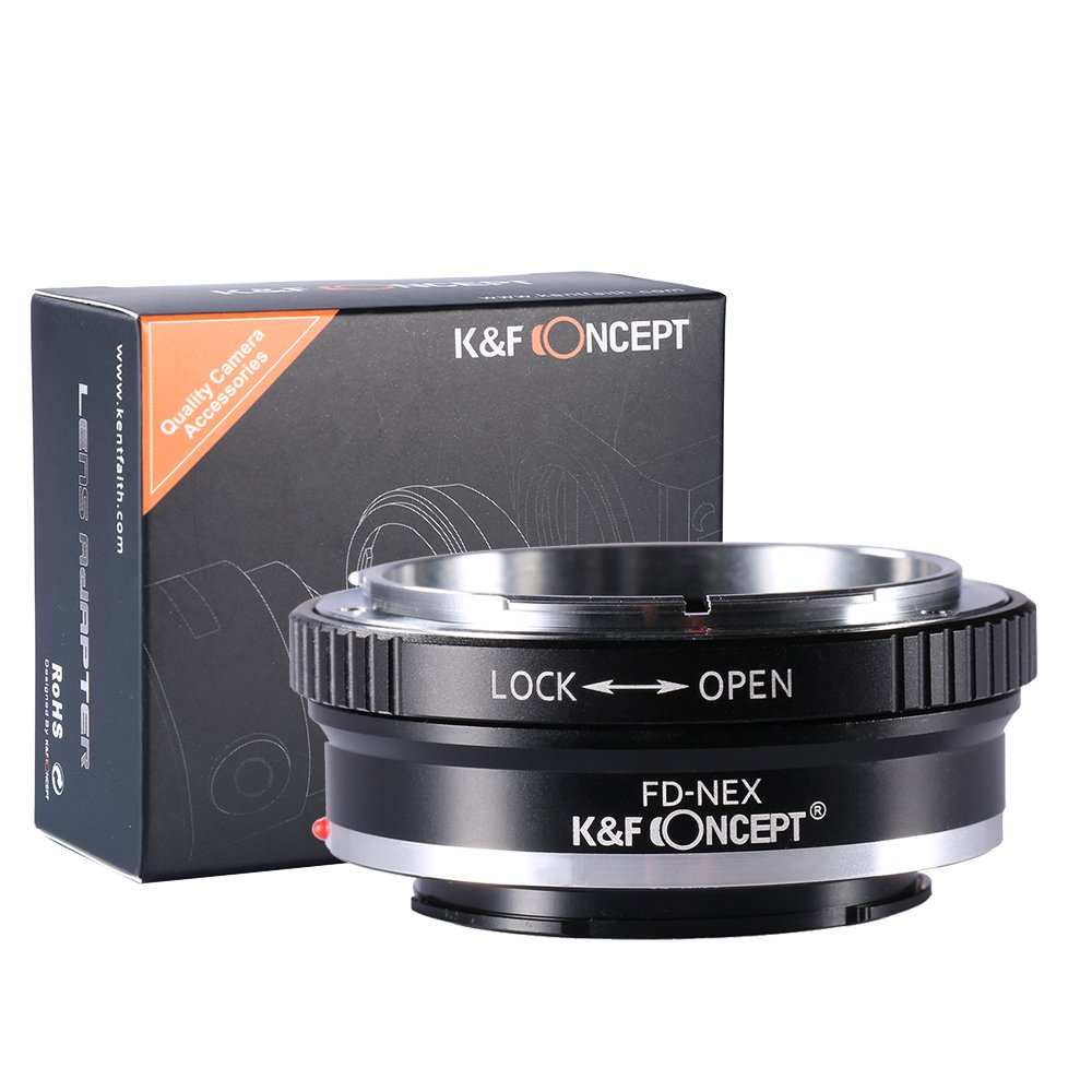 K&F Concept Lens Mount Adapter FD to NEX for Canon FD FL Lens to Sony NEX E-Mount Camera for Sony Alpha NEX-7 NEX-6 NEX-5N NEX-5 NEX-C3 NEX-3 by K&F Concept
