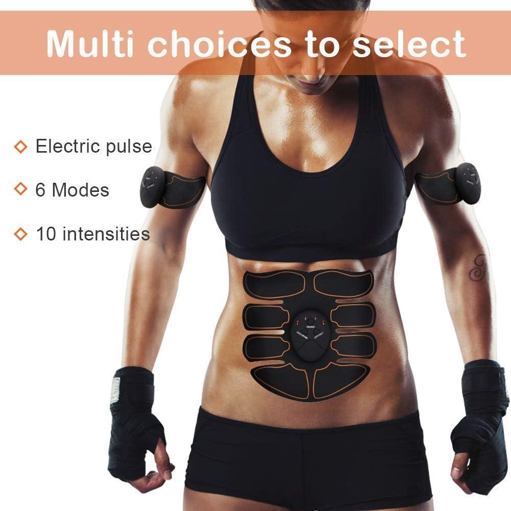 Massage Abdomen//Bras//Cuisse- Hommes et Femmes 6 Modes /& 10 Niveaux YuDy Electrostimulateur Musculaire Ceinture Abdominale EMS Muscle Stimulateur