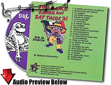 Sing, Dance, Laugh and Eat Tacos 2 Lyric Book and Music CD Set