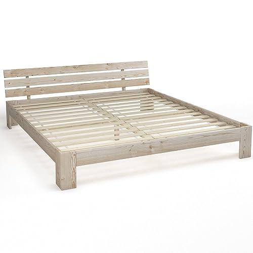 massivholz bett. Black Bedroom Furniture Sets. Home Design Ideas