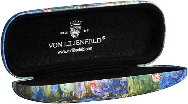 VON LILIENFELD Estuche Gafas Funda Ligeramente Estable Colorido Regalo Motivo Arte Floral Claude Monet: Nenúfar: Amazon.es: Ropa y accesorios