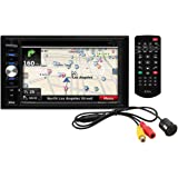 BOSS Audio BVNV9384RC Double Din, Touchscreen, Bluetooth, Navigation/GPS, DVD/CD/MP3/USB/SD AM/FM Car Stereo, 6.2 Inch Digital LCD Monitor, Wireless Remote, Rear Flush-Mount Camera Included