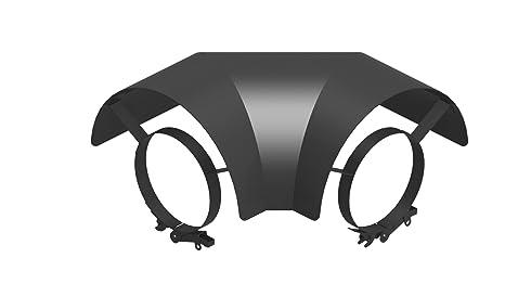 Hitzeschutz Bogen 90° oberhalb für Ø 120 mm Ofenrohr Wärmeschutz Thermoschild