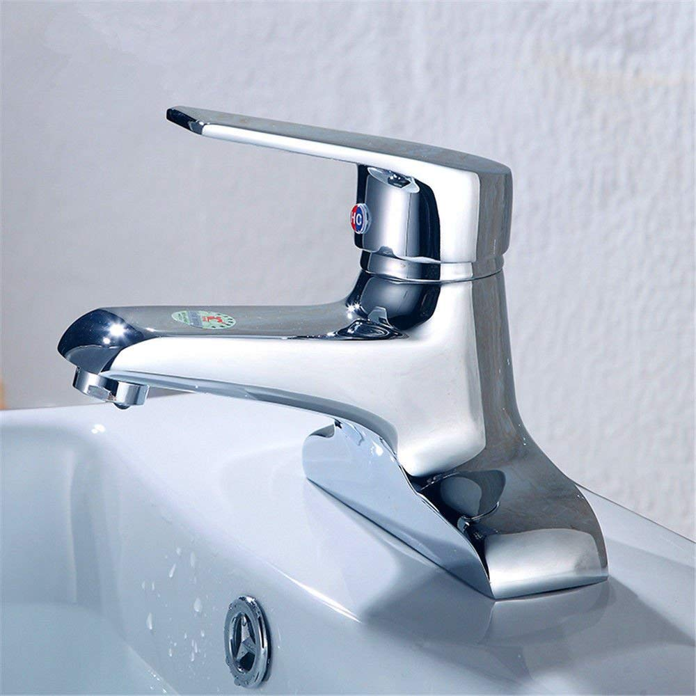 Oudan Basin Mixer Tap Bathroom Sink Faucet Basin faucet 2-hole faucet hot and cold-water mixing valve copper basins lowered basin health bathroom.