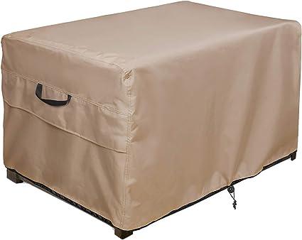Amazon.com: ULTCOVER Patio Deck Box Storage Bench Cover
