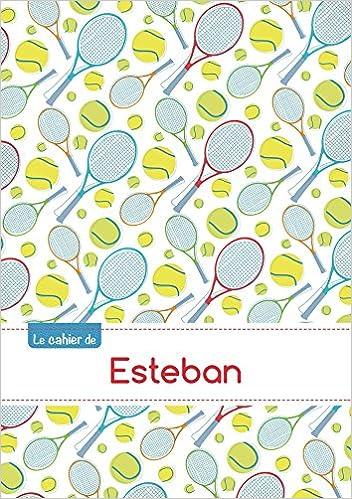 Livre Le cahier d'Esteban - Petits carreaux, 96p, A5 - Tennis pdf, epub