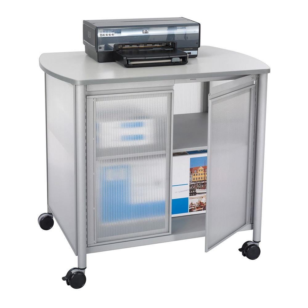 Impromptu Deluxe Machine Stand w/Doors, 34-3/4w x 25-1/2d x 30-3/4h, Gray, Sold as 1 Each