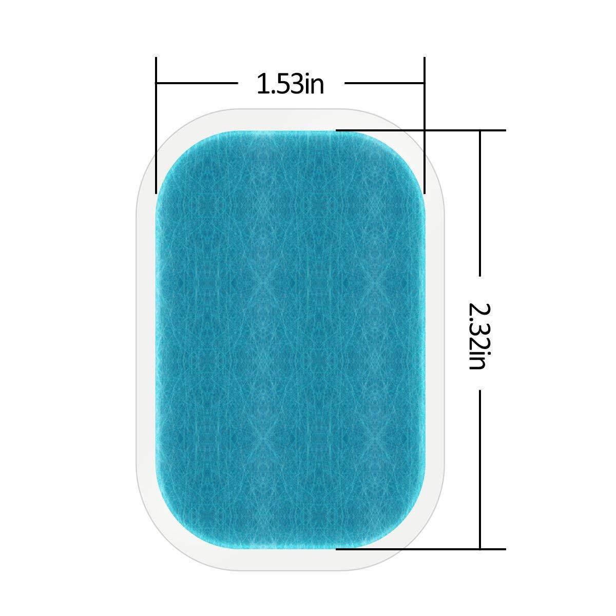 PINCHUANG 30 Pcs//15 Packs Abs Stimulator Training Replacement Gel Sheet Pads for Muscle Toner Abdominal Workout Belt
