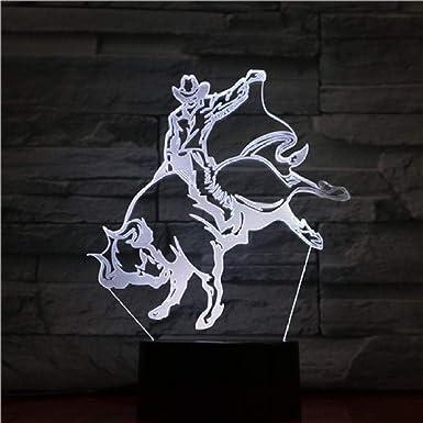 Lámpara Led De Ilusión De Luz Nocturna Taurina 3D Para La ...