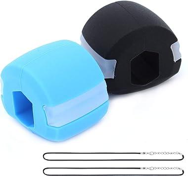 TAECOOOL Dispositivo de ejercicio de doble barbilla, ejercitador facial para músculos faciales, masticar la mandíbula bola de fitness para ...