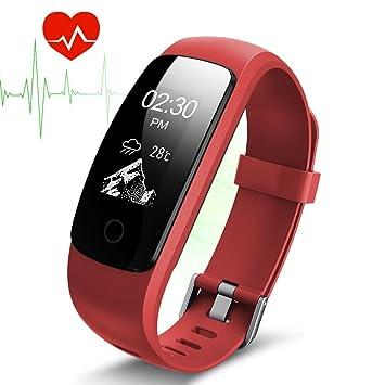 Pulsera Actividad Pulsera Inteligente con GPS para Correr,IP67 Impermeable Pulsera Móvil Monitor de Ritmo Cardíaco, Sueño, Control de Musica y ...